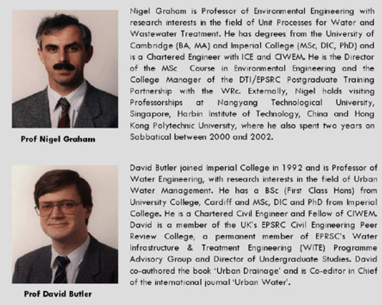 Professors Nigel Graham & David Butler