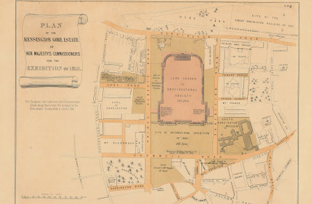 Plan of Kensington Gore Estate for the Exhibition of 1851
