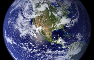 Satellite image of Earth courtesy NASA