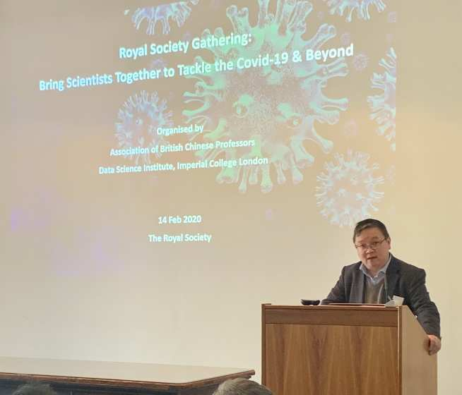 Professor Guo at the CoViD19 meeting