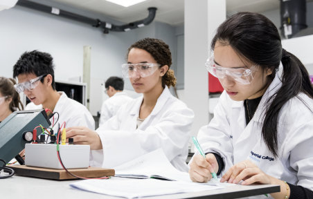 An image of Undergraduate Students in the Laboratory