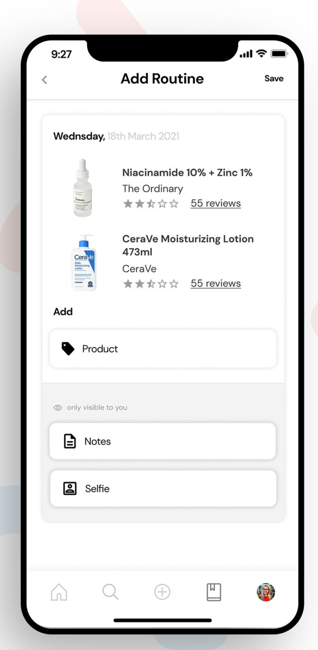 A screenshot of the Clear app