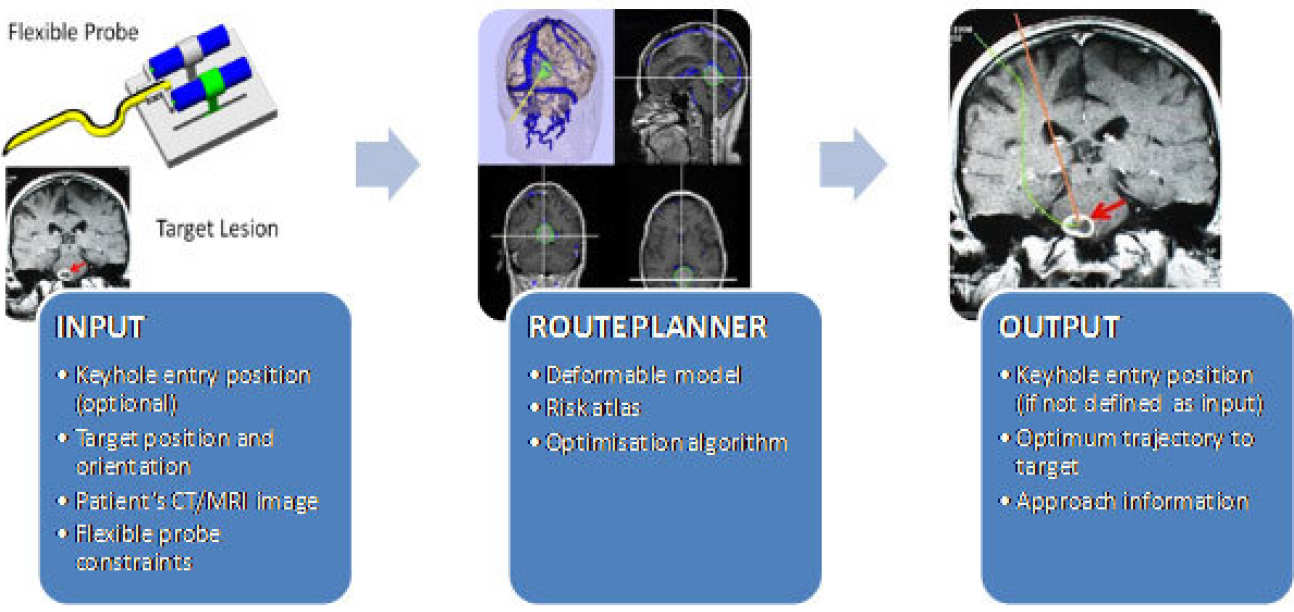 Route planner for the brain