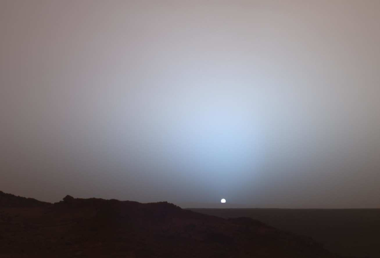 Photo of a sunset on Mars