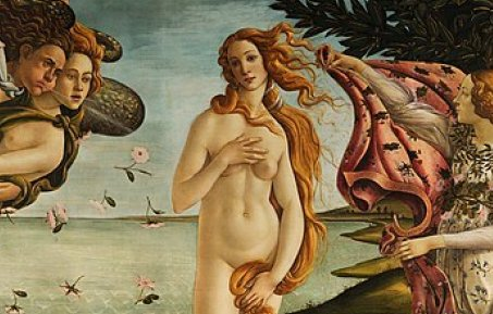 Detail of the Birth of Venus by Botticelli
