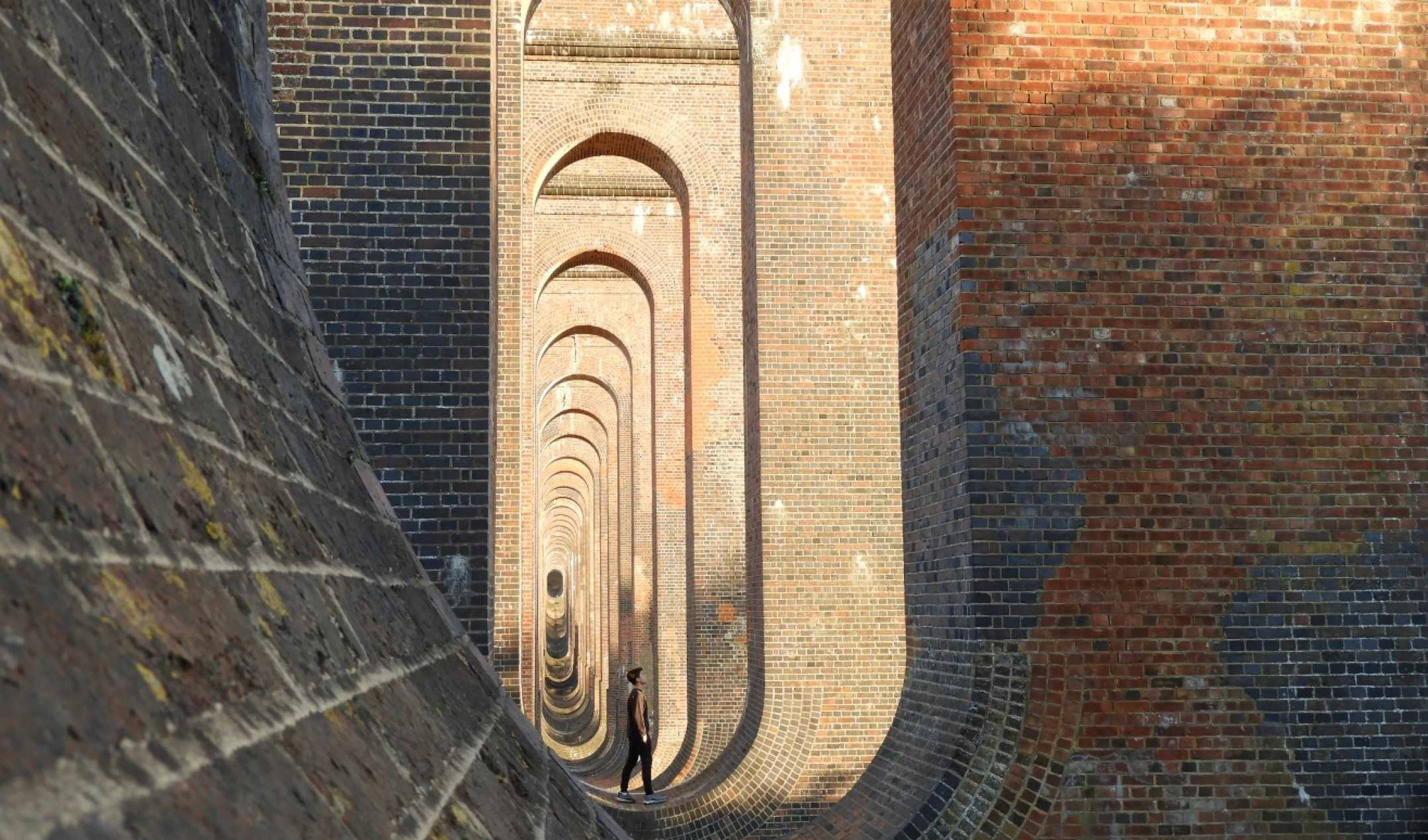 """Mid-September at Ouse Valley Viaduct"" by Akim Beckett"