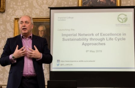 Imperial College London's Vice Provost (Research and Enterprise), Prof. Nick Jennings, opening the launch event.