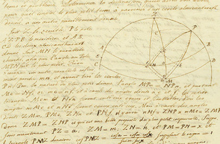 Euler on Spherical Geometry (1744, photographic credit: The Pierpont Morgan Library, New York)