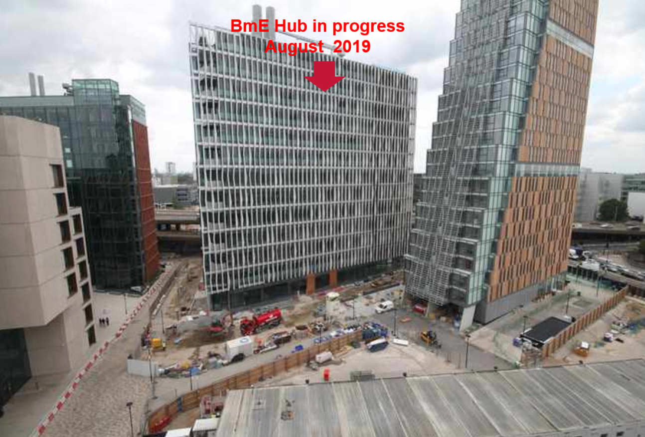 Latest image of the building construction