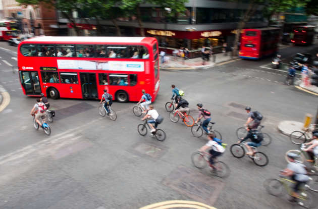 cycle traffic in London