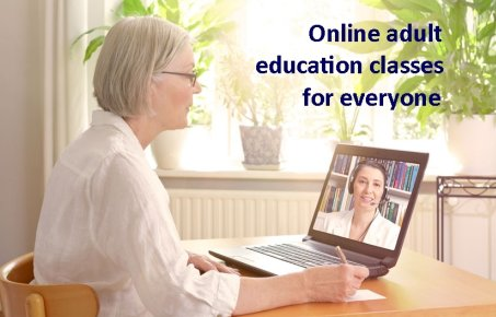 Woman online learning student