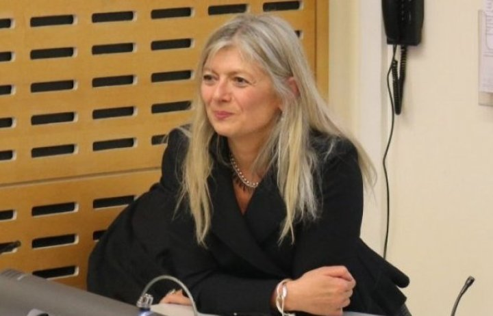 Photo of Barbara Casedei at Athena Swan lecture