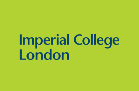 Imperial College London logo - Blue on green background