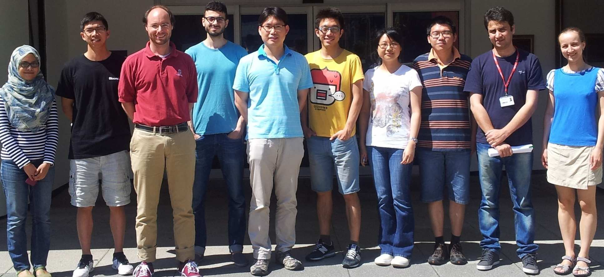 Dr Bruno Clerckx (third from left) and his research group