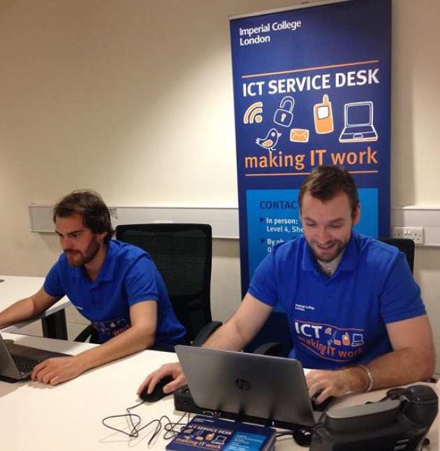 Service Desk Specialists in the Central Library
