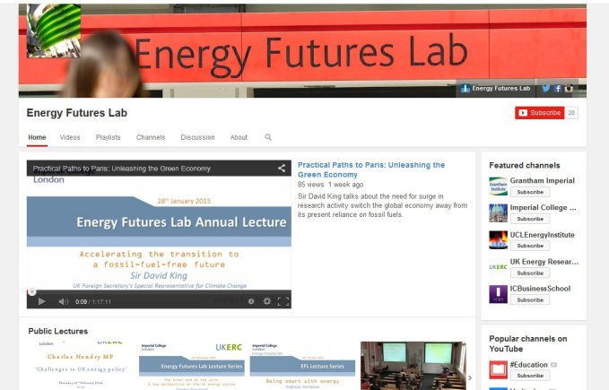 Energy Futures Lab on Youtube