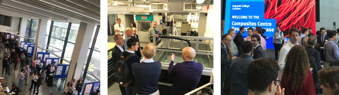 Photos of the Composites Centre Research Showcase event
