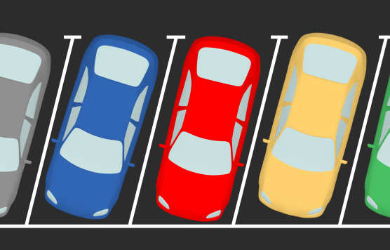 Digital image of parked cars