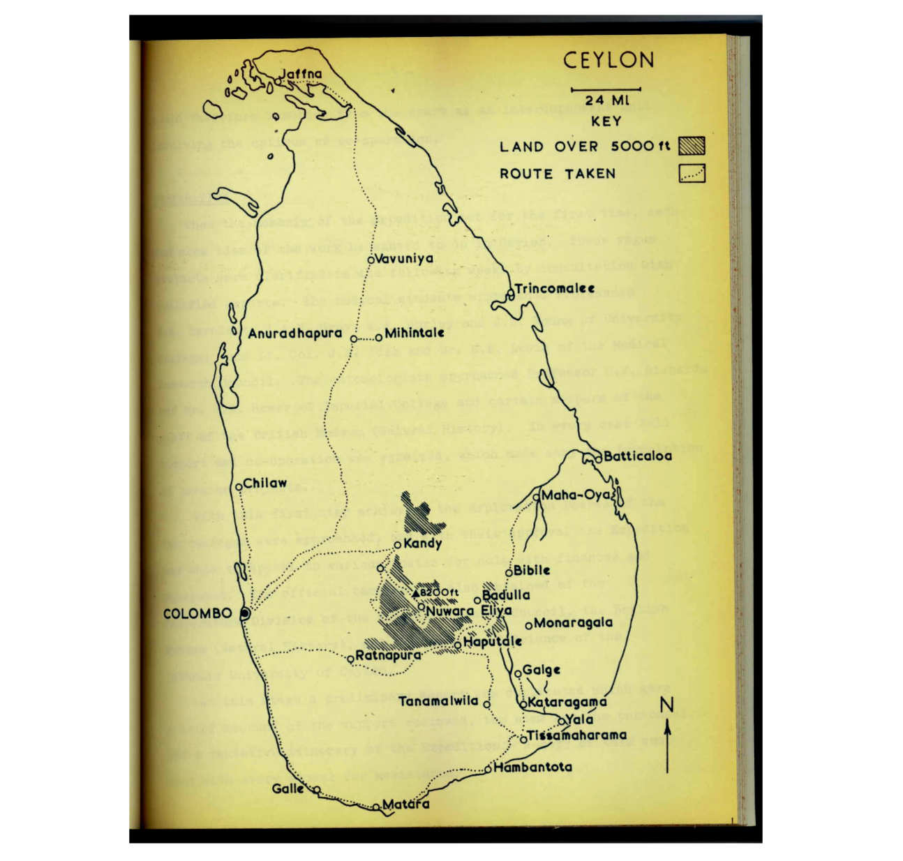 Map of Ceylon (Sri Lanka)