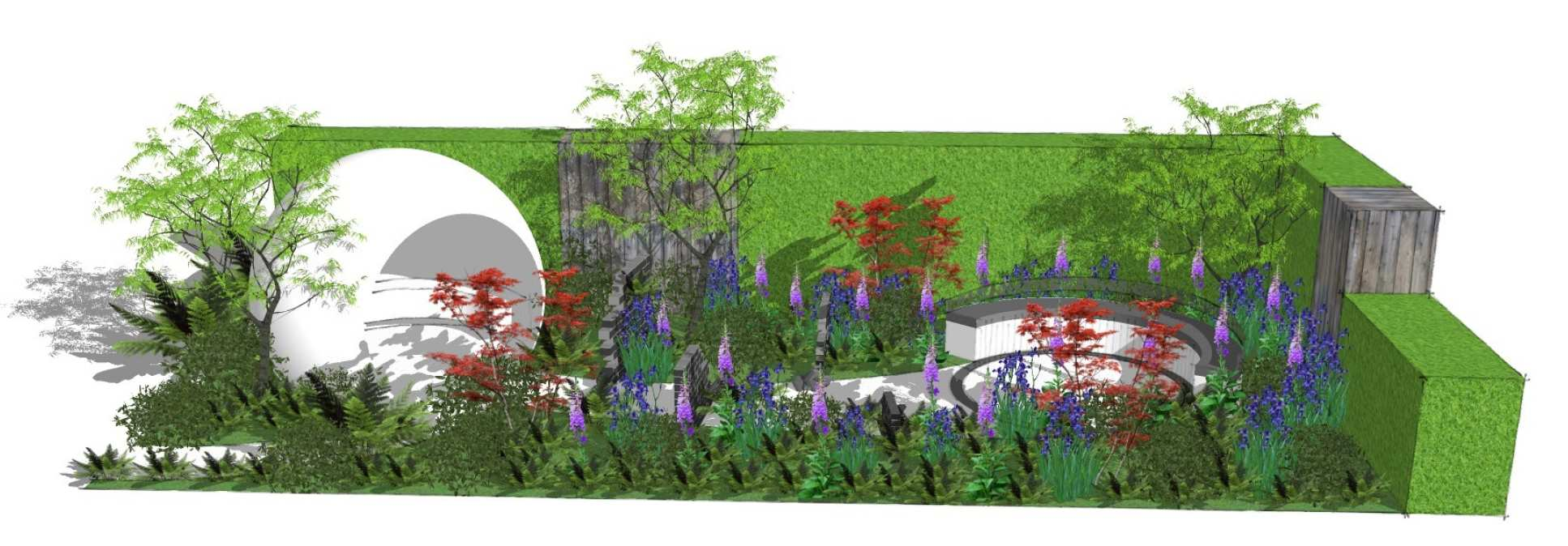 A 3D illustration of the HIV garden
