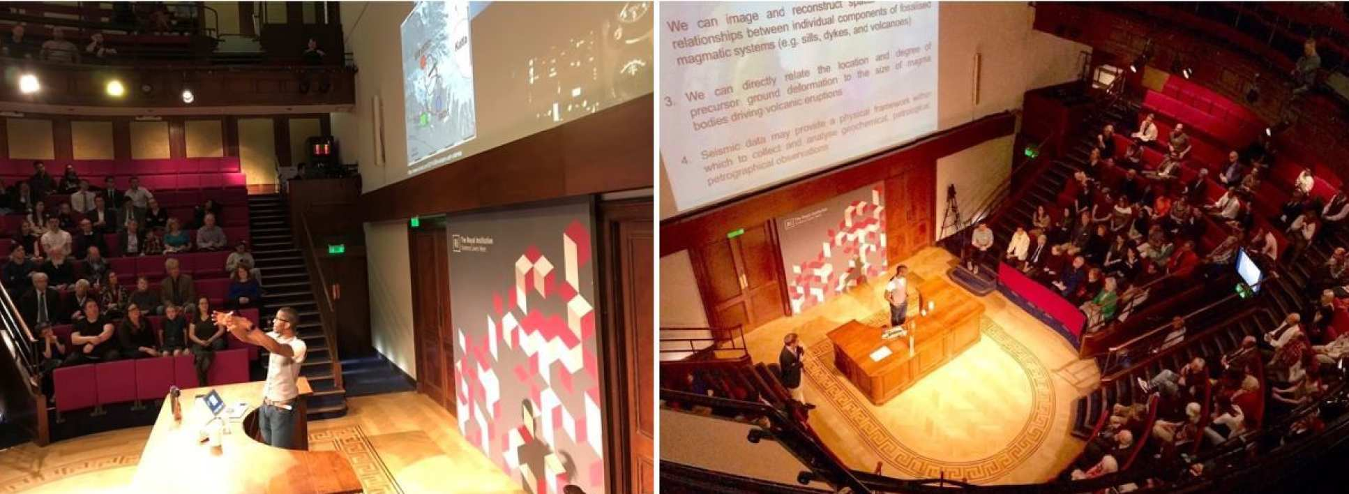 Chris at the Royal Institution