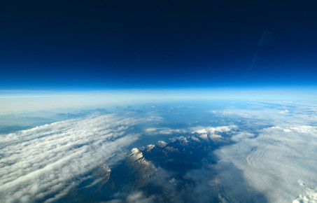 Unusual aerial view of the Earth and clouds c SazzyB
