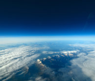 View of earth and atmosphere from space