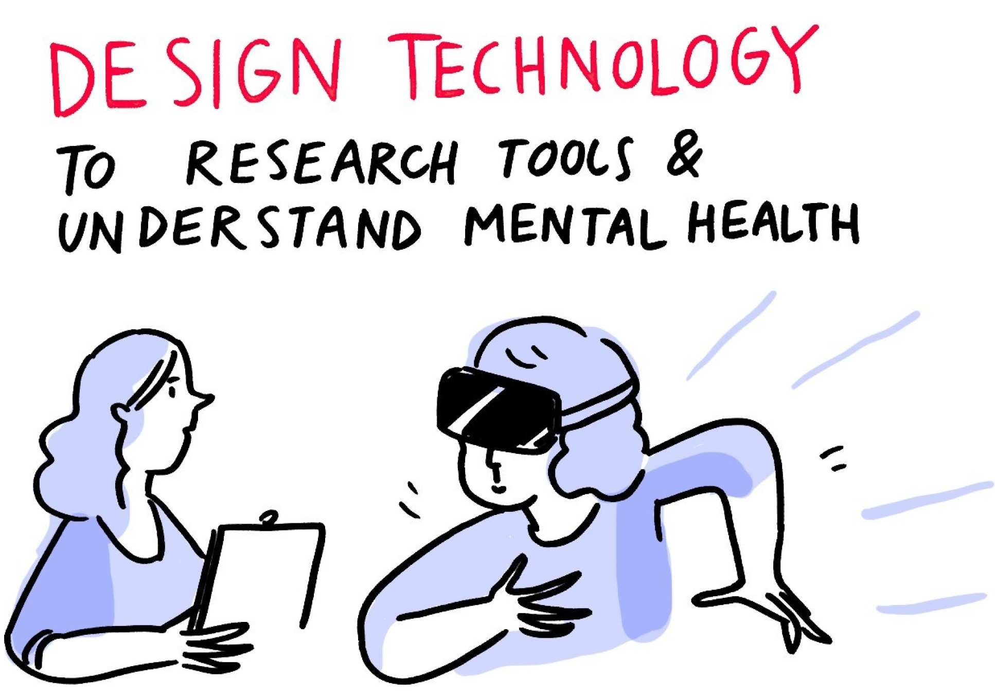 Dr Nerja Van Zalk's talk on cognitive needs as illustrated by Josie Ford (detail). See full image.