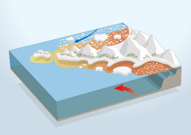 graphical diagram of the Antarctic Peninsula