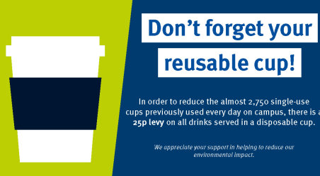 Don't forget your reusable cup! sticker