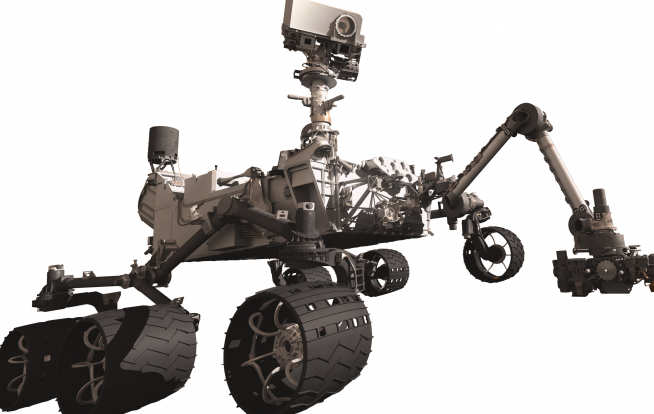 Mars Science Laboratory Curiosity rover illustration