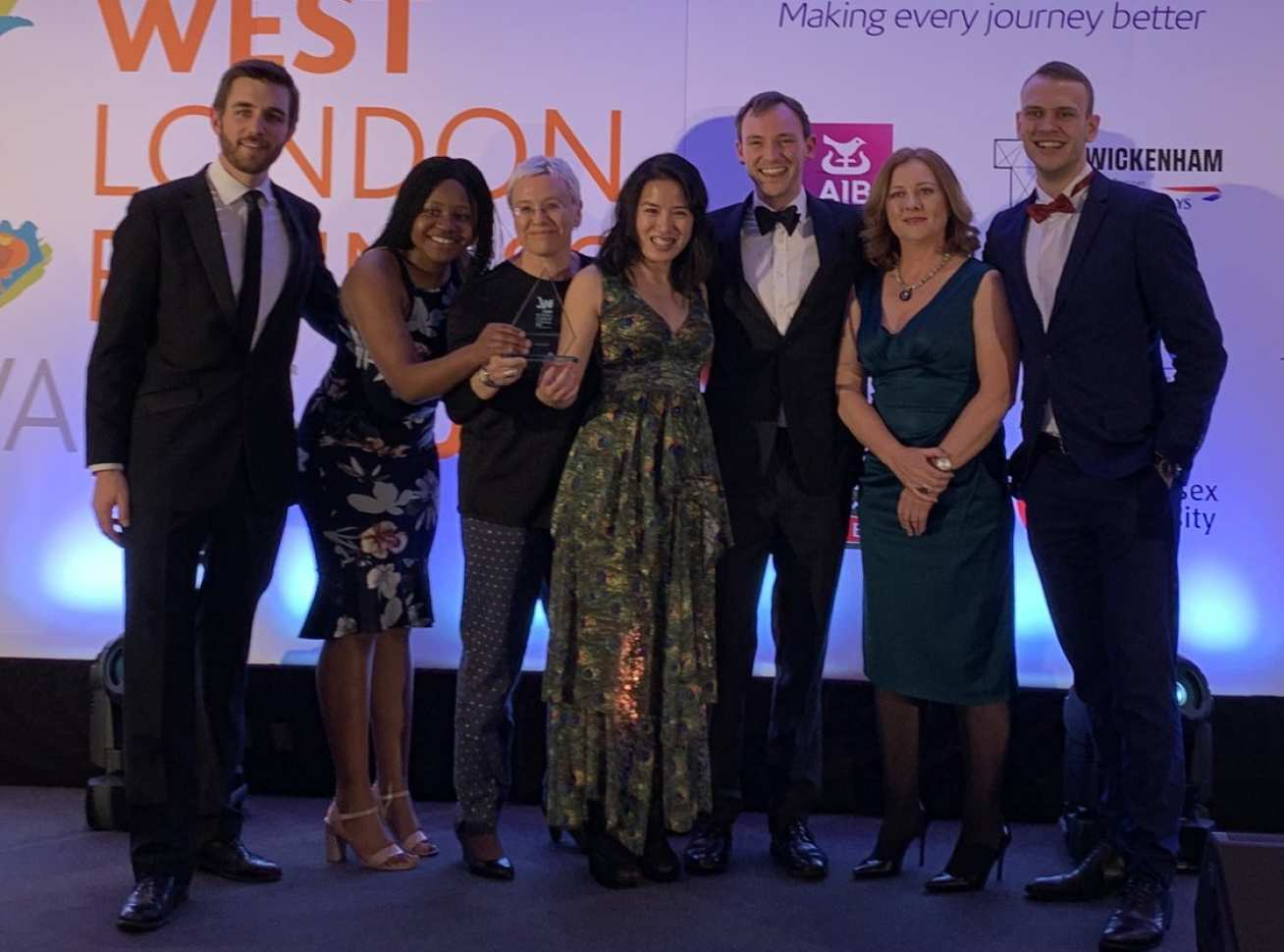The Customem team collecting their West London Business Award