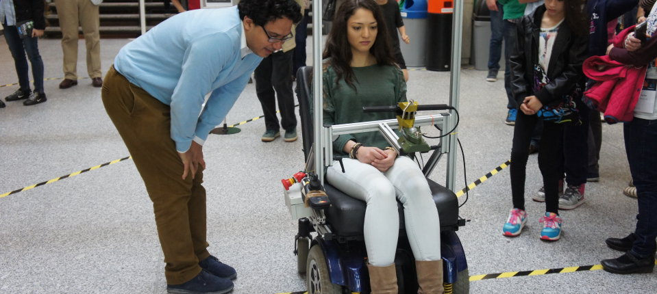 Eye-controlled wheelchair on demonstration at Imperial Festival 2015