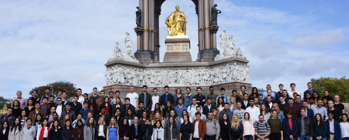 Group of MSc students in front of the Albert Memorial