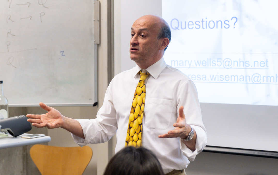 Professor Jeremy Levy, Director of the Clinical Academic Training Office and Consultant Nephrologist at Imperial College Healthcare NHS Trust, presented his advice on pursuing a research career