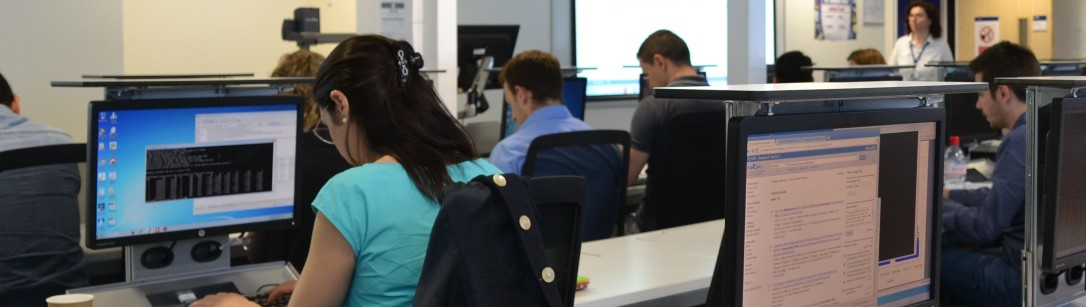 Genomics students carrying out research in the lab