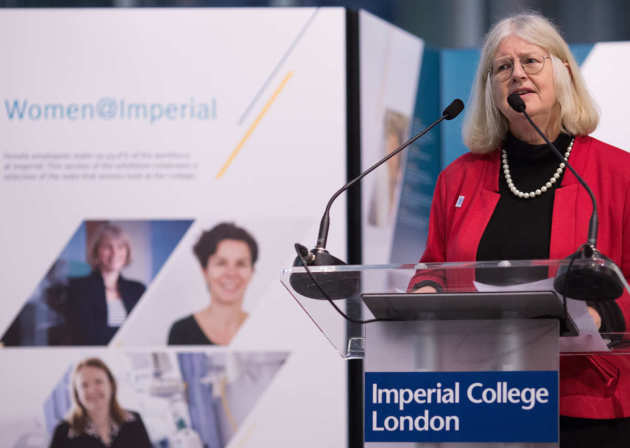 Professor Dot Griffiths speaking at Women@Imperial 2016