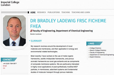 Dr Bradley Ladewig's PWP page