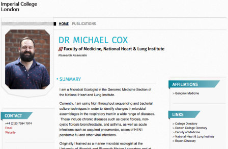Dr Michael Cox's PWP page