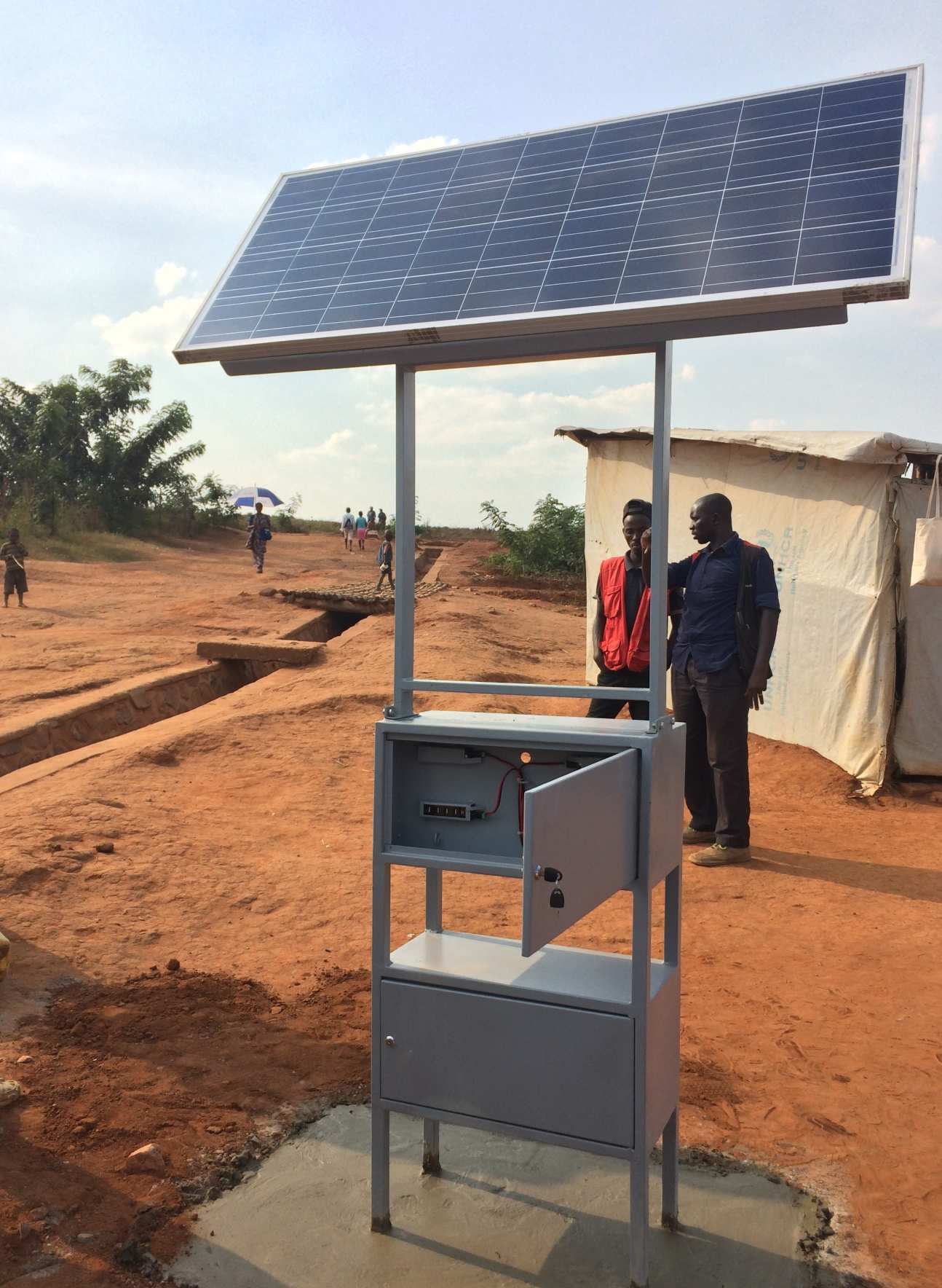 An Elpis Solar charging station