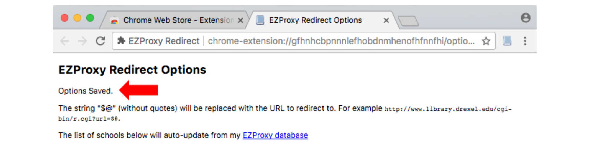Chrome EZproxy