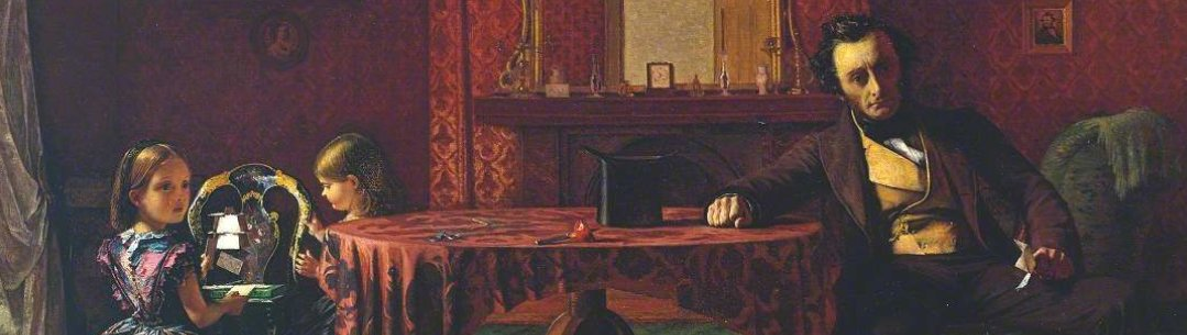 Cropped image of painting called Past and Present by Augustus Egg