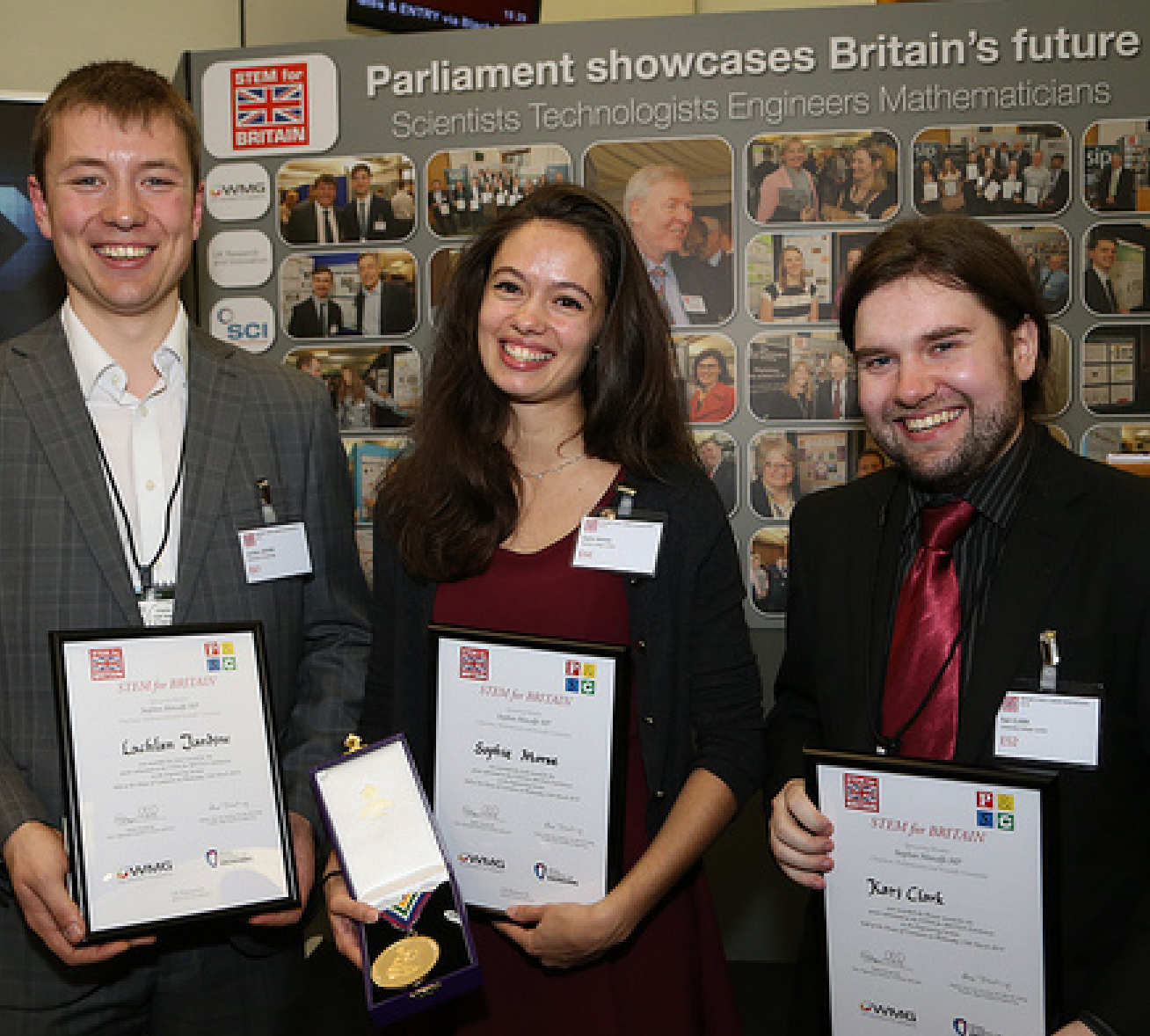 Smiley photo of the three competition winners