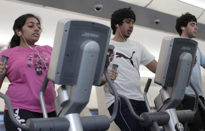 People on treadmills at Ethos Sports Center
