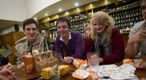 The student-led Cheese Society in the Students' Union
