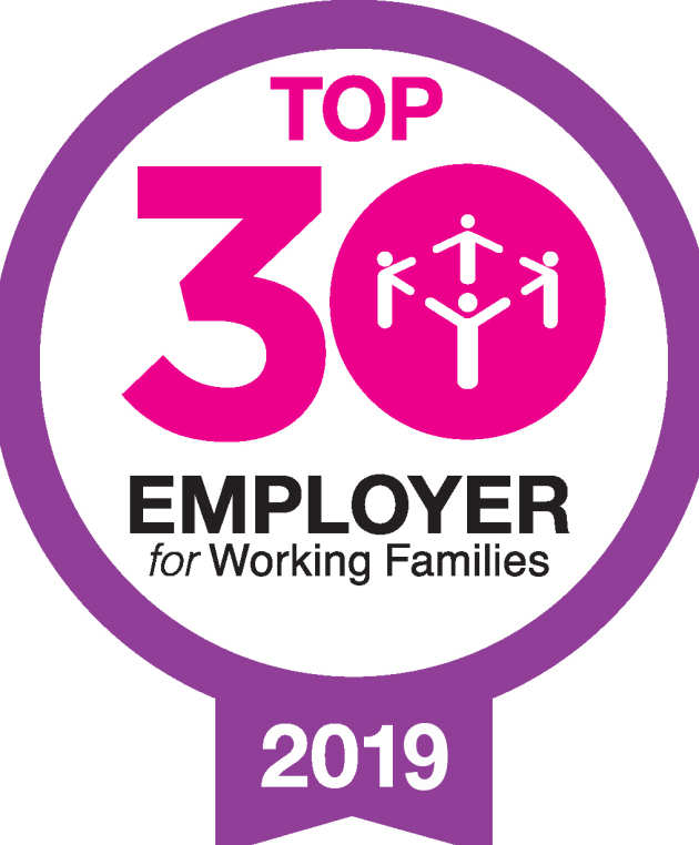 Top 30 Employer for Working Families logo