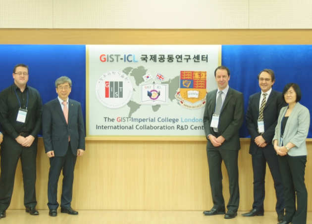 GIST and CPE academics at launch of ICL-GIST international R&D centre for plastic electronics