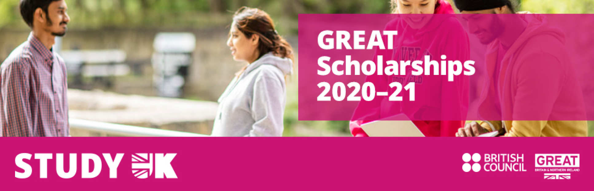 Great Scholarships 2020-21 with British Council and Study UK