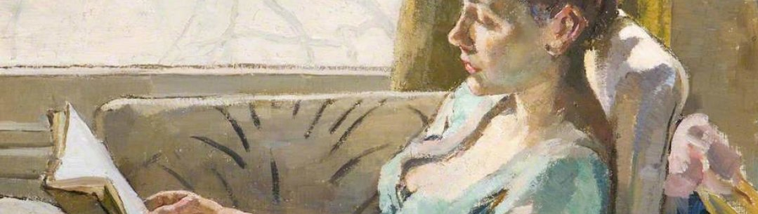 Detail from Woman Reading by  Ethel Leontine Gabain