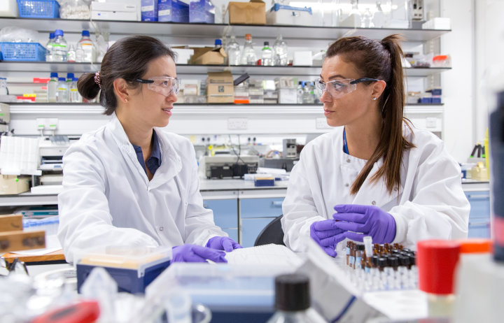Glycosciences researchers in the lab